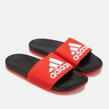 adidas Men's Adilette Cloudfoam Plus Logo Slides