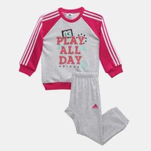 adidas Kids' Graphic French Terry Jogger Set (Infant)
