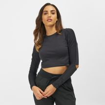 Reebok Long Sleeve Cropped Studio T-Shirt