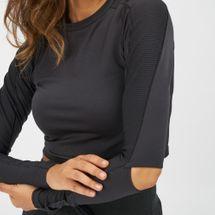 Reebok Long Sleeve Cropped Studio T-Shirt, 1313588