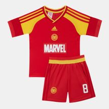 adidas Kids' Marvel Iron Man Football Set