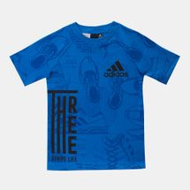 adidas Kids' ID Print T-Shirt Blue