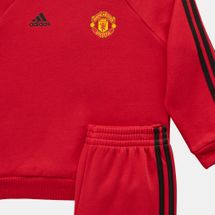 adidas Kids' Manchester United FC 3-Stripes Jogger Tracksuit, 1283123
