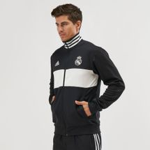adidas Real Madrid 3-Stripes Football Track Jacket