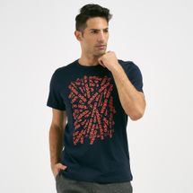 adidas Men's Essentials Linear Scatter T-Shirt