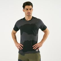 adidas Men's FreeLift Tech Camouflage Graphic T-Shirt