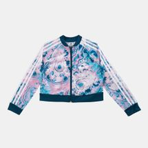adidas Originals Kids' Marble Cropped Track Jacket (Older Kids)