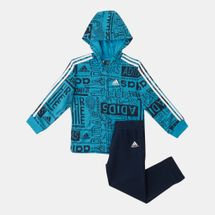 adidas Kids' Graphic Fleece Jogger Set (Baby and Toddler)
