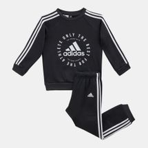 adidas Kids' 3-Stripes Fleece Jogger Set (Baby and Toddler)