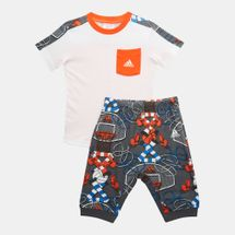 adidas Kids' Style Summer Set (Baby and Toddler) White