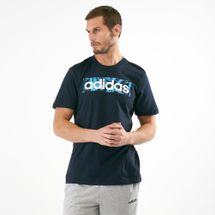 adidas Men's Essential Linear Allover Print Box T-Shirt