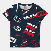 PUMA Kids' Alpha Graphic All Over Print T-Shirt (Older Kids)