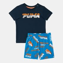 PUMA Kids' Minicats T-Shirt And Shorts Set (Baby and Toddler)