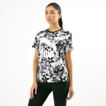 PUMA Women's Classics Allover Print Logo T-Shirt