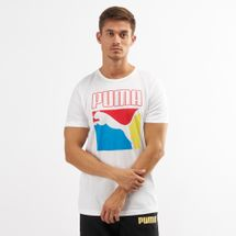 PUMA Men's Graphic Box Logo T-Shirt