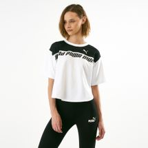 PUMA Women's Modern Sports Sweat T-Shirt White