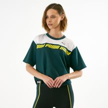 PUMA Women's Modern Sports Sweat T-Shirt Green
