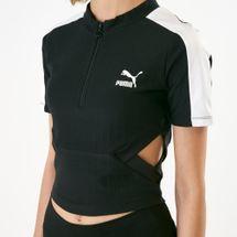 PUMA Women's Classics Ribbed T-Shirt, 1535936
