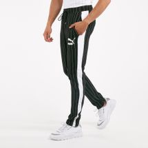 PUMA Men's Pinstripe T7 Track Pants Black