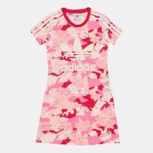 فستان بطبعات موردة بالكامل من اديداس اورجينال للاطفال الكبار