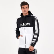 adidas Men's Essentials Colourblock Hooded Track Jacket