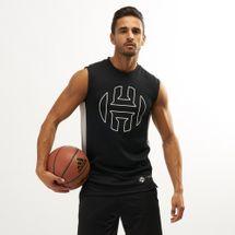 تيشيرت كرة السلة بلا أكمام هاردن من اديداس للرجال