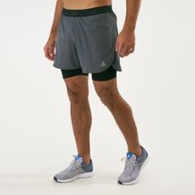 Reebok Men's OSR Epic 2-1 Run Shorts