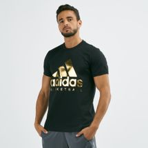 adidas Men's Gold Foil Badge of Sport T-Shirt