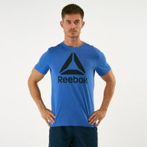 Reebok Men's QQR Stacked T-Shirt