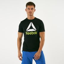 Reebok Men's QQR Stacked T-Shirt Black