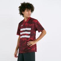 adidas Men's Tan Graphic Jersey T-Shirt