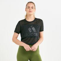 adidas Women's Badge of Sport Mesh T-Shirt