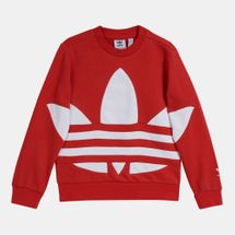 adidas Originals Kids' Big Trefoil Crew Sweatshirt