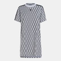 adidas Originals Women's Monogram Print T-Shirt Dress