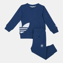 adidas Originals Kids' Big Trefoil Crew Set (Baby and Toddler)