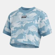 adidas Originals Women's Camouflage Cropped T-Shirt