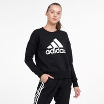 adidas Women's Essentials Badge of Sport Crew Sweatshirt
