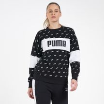PUMA Women's Allover Print Sweatshirt