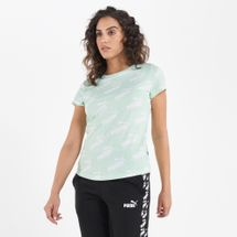 PUMA Women's Amplified Allover Print T-Shirt