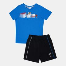 PUMA Kids' X SEGA T-Shirt and Shorts Set (Baby and Toddler)