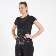 PUMA Women's Metallic Splash T-Shirt