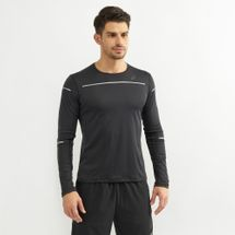 Asics Men's Lite-Show Long Sleeve Top Black