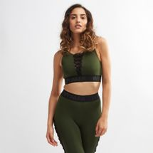 IVY PARK Lace-Up Detail Sports Bra