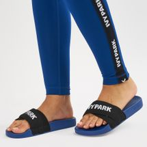 IVY PARK Logo Tape Slides Blue