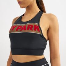 IVY PARK Sheer Flocked Active Logo Sports Bra, 1430768
