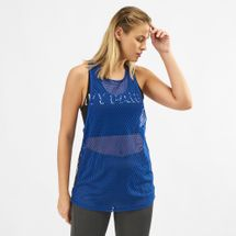 IVY PARK Active Mesh Logo Tape Tank Top