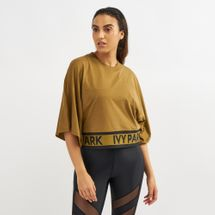 IVY PARK Logo Flatknit Crop T-Shirt Brown