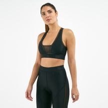 IVY PARK Women's Mesh Panel Plunge Sports Bra