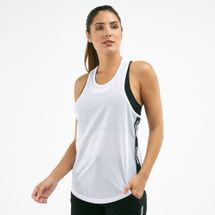 IVY PARK Women's Active Mesh Logo Tape Tank Top