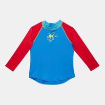Zoggs Kids' Octopus Fever Zip Sun Top